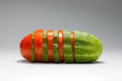 томат пересечения огурца Стоковые Изображения RF