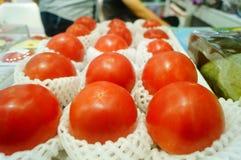 Томат, произведенный в Синьцзян, Китай Стоковое фото RF