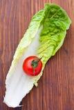 томат салата листьев вишни Стоковое Изображение