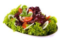 томат салата лука базилика свежий Стоковое Фото