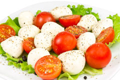 томат салата mozzarella Стоковое Изображение RF