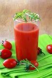 томат сока ткани стеклянный зеленый Стоковая Фотография RF