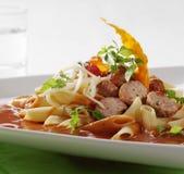 томат соуса макаронных изделия meatballs Стоковая Фотография RF