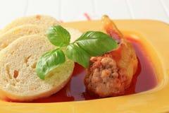 томат соуса перца вареников заполненный Стоковые Фото