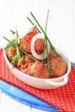 томат соуса meatballs Стоковое фото RF