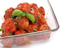 томат соуса meatballs Стоковая Фотография