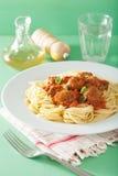 томат спагетти соуса meatballs Стоковое Изображение RF