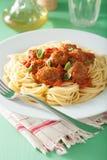 томат спагетти соуса meatballs Стоковые Изображения RF