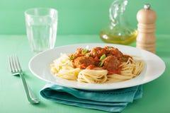 томат спагетти соуса meatballs Стоковые Фото