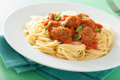 томат спагетти соуса meatballs Стоковая Фотография RF