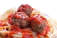 томат спагетти соуса meatballs Стоковое Изображение