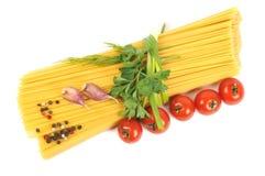 томат спагетти чеснока пука сырцовый Стоковое Изображение RF