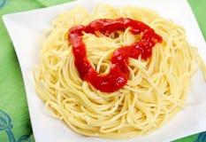 томат спагетти 3 соусов Стоковая Фотография
