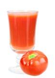 томат стеклянного сока красный одиночный Стоковое фото RF