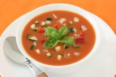 томат супа базилика Стоковые Изображения
