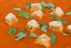 томат супа базилика Стоковая Фотография