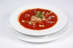 томат супа плиты Стоковое Изображение