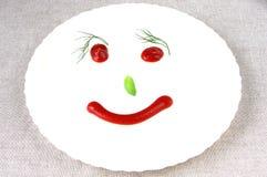 томат усмешки плиты укропа базилика Стоковое Изображение RF