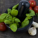 томат чеснока базилика Стоковое фото RF