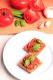 томат crostini Стоковое Изображение