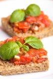 томат crostini Стоковое Изображение RF