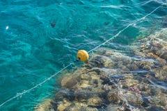 Томбуи в море Стоковое фото RF