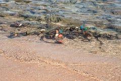 Томбуи в море Стоковая Фотография RF