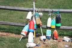 Томбуи на загородке Стоковая Фотография RF