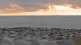 Томбуй на море suset - Georgia сток-видео