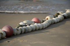 Томбуй на песчаном пляже в Китае Стоковые Фотографии RF