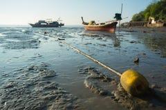 Томбуй на пляже Стоковое Фото