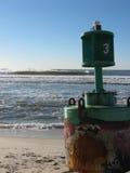 Томбуй на пляже Стоковое фото RF