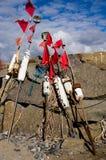 Томбуй рыбной ловли стоковое фото rf