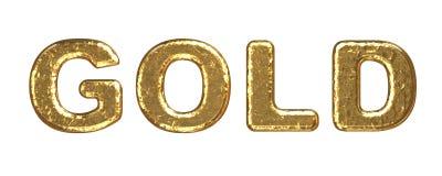 том текстуры надписи золота Стоковое Изображение RF