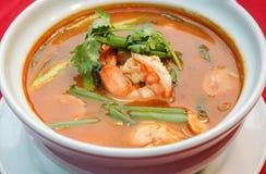 Том Ям Kung, пряный тайский стиль супа Стоковые Изображения
