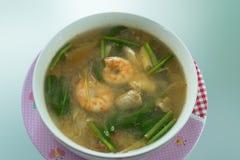 Том Ям Kung, тайская кухня Стоковое фото RF