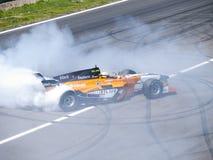 Том Coronel горит некоторую резину Стоковая Фотография RF