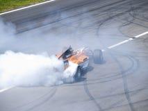 Том Coronel горит некоторую резину Стоковые Фото