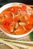 Том Yum Gai или пряный суп Tom yum с цыпленком - подлинное тайским стоковые фотографии rf