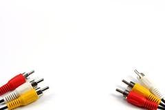 тональнозвуковое видео кабеля Стоковые Фотографии RF