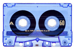 тональнозвуковой голубой прозрачное изолированное кассетой Стоковые Изображения RF