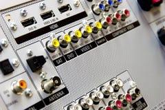 тональнозвуковые входные сигналы видео- Стоковые Фотографии RF
