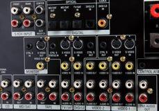 тональнозвуковые входные сигналы видео- Стоковое Изображение RF