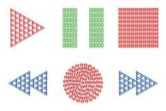 тональнозвуковые иконы визуально Стоковое фото RF