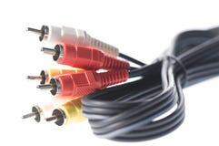 тональнозвуковые кабели видео- стоковые фото
