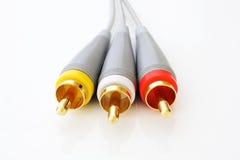 тональнозвуковые кабели визуально стоковое фото rf