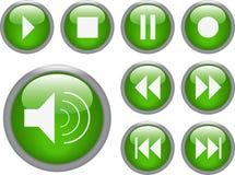 тональнозвуковые кнопки видео- Стоковая Фотография