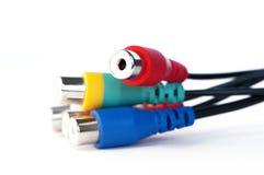 Тональнозвуковой видео- кабель Стоковое Изображение RF