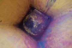 Тонер покрашенный остатком мусорное ведро стоковые изображения rf