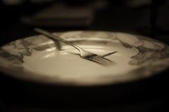 Тонизированная вилка в monochrome плиты Стоковое Изображение